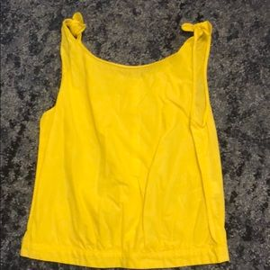 Zara yellow top size xs never worn